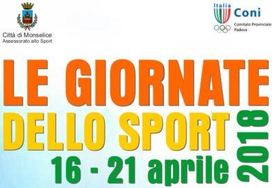 16-21 Aprile 2018: Le giornate dello sport